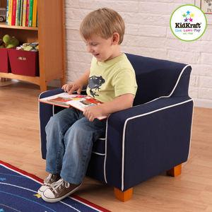 KidKraft - fauteuil laguna bleu en tissu 56x46x50cm - Kindersessel