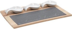 Aubry-Gaspard - plateau amuse-bouche ardoise et bambou - Tablett