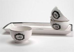 Amadeus - plateau avec 3 coupelles grand hôtel en porcelaine - Tablett