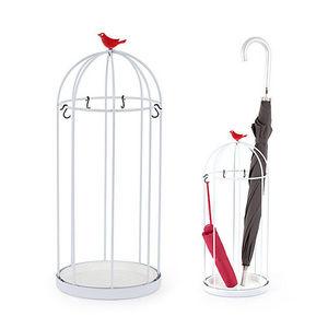 Balvi - porte-parapluies birdcage en métal 23,5x57cm - Schirmständer