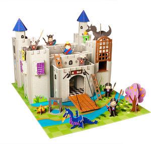 KROOOM-EXKLUSIVES FUR KIDS - château-fort artur en carton recyclé 73x56x48cm - Burg