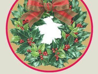 CASPARI -  - Pappteller Mit Weihnachtsmotiv