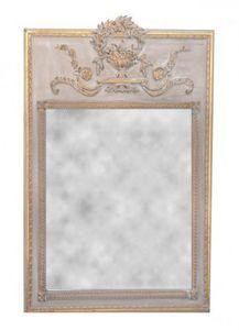 Demeure et Jardin - trumeau style louis xvi gris foncé - Trumeauspiegel