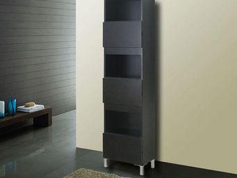 UsiRama.com - colonne de salle de bain 182cm noir - Badezimmerschrank
