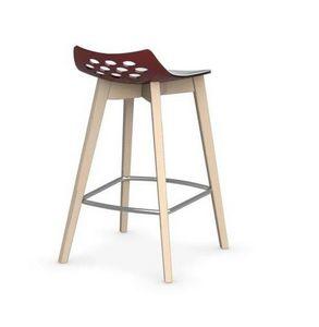Calligaris - chaise de bar jam w de calligaris rouge transparen - Barstuhl