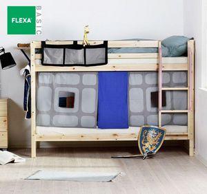 FLEXA - lit superposé flexa en pin vernis naturel couchage - Etagenbett