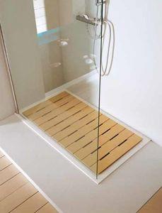 Samo - caillebotis trendy - Eingebautes Duschbecken