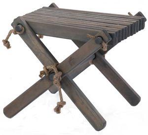 ECOFURN - repose pieds table basse lilly pin gris - Fußstütze