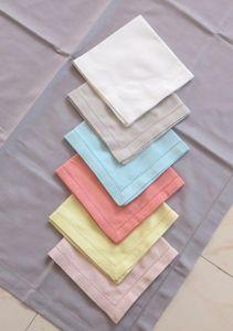 ITI  - Indian Textile Innovation - solid with hemstitch - Tisch Serviette