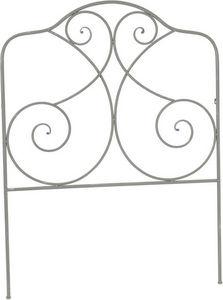 Amadeus - tête de lit en fer gris rosace - Kopfteil