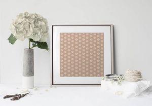 la Magie dans l'Image - print art lotus beige foncé - Poster