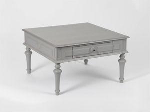 Amadeus - table basse anselme - gris - Couchtisch Quadratisch