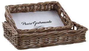 Aubry-Gaspard - plateaux pause gourmande en poelet (lot de 2) - Tablett