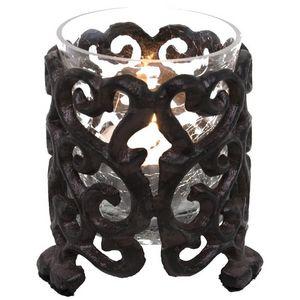 CHEMIN DE CAMPAGNE - photophore bougeoir de table en fonte - Windlicht