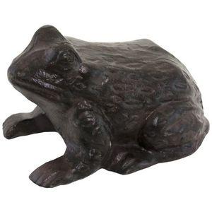 CHEMIN DE CAMPAGNE - statue sculpture grenouille crapaud en fonte de ja - Gartenschmuck
