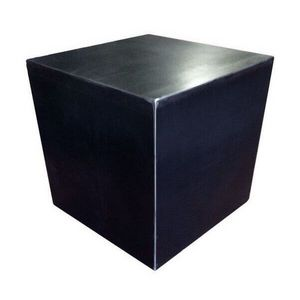 Mathi Design - cube design acier brut - Hocker
