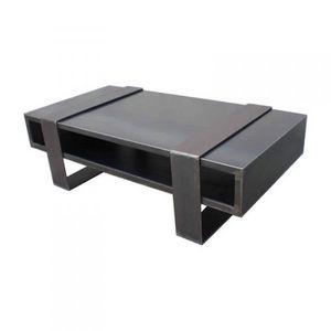 Mathi Design - table basse metallica duosteel - Rechteckiger Couchtisch