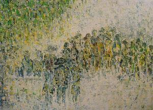 ELLEN VAN DER WOUDE - garden party - Zeitgenössische Gemälde