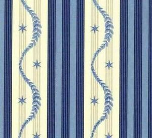 Illustration Bleue -  - Wandstoff
