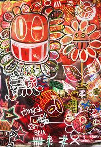 GLV-SEBASTIEN MICHEL - style couleur - Zeitgenössische Gemälde