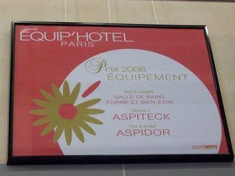 Aspidor - prix de l'innovation 2008 à equip'hotel - Hänge Wc