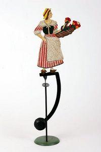 Gros Ours Du Brabant - la dame aux fleurs - Pendel Spielzeug
