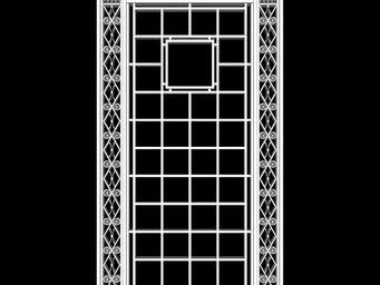 Archipedia - 1930s grille - Fenstertür, Zweiflügelig