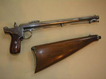 Aux Armes d'Antan - intéressant pistolet delvigne à percussion - Pistole Und Revolver