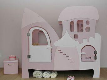 Bed'is - 140 x 70 cm hauteur 140cm - Hütte Bett Für Kinder