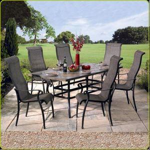 Swan Hattersley - alexandria 200 x 100 rectangular roma set - Garten Esszimmer