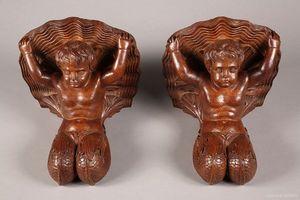 Galerie Atena - console d'applique aux chérubins - Konsolwandleuchte