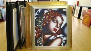 The London Picture Centre - oil on canvas - Ölgemelde Auf Leinwand Und Holztafel