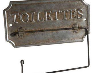 Antic Line Creations - support papier toilette en zinc ancien - Toilettenpapierspender