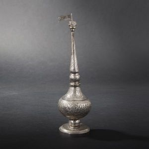 Expertissim - flacon en argent. inde du nord, xixe siècle - Deko Flasche