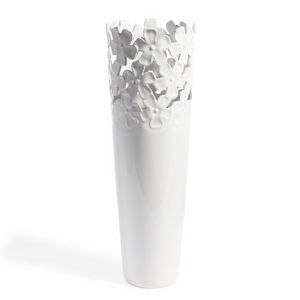 Maisons du monde - vase flora blanc - Vasen