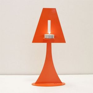 Fenel & Arno - bougeoir lampe en métal orange chandelier electic - Kerzenständer