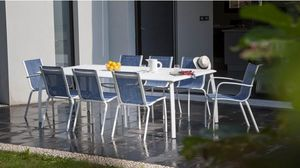 PROLOISIRS - salon jean's 1 table + 6 chaises + 2 fauteuils - Garten Esszimmer