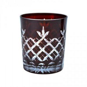 Demeure et Jardin - set de 6 verres à whisky rouges - Whiskyglas