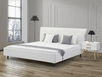 BELIANI - lits en cuir - Doppelbett