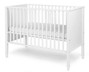 WHITE LABEL - lit bébé avec roulettes 60x120cm coloris blanc - Baby Reisebett