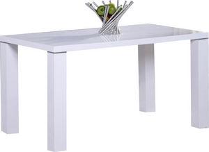 COMFORIUM - table de cuisine 130 cm rectangulaire blanc design - Rechteckiger Esstisch