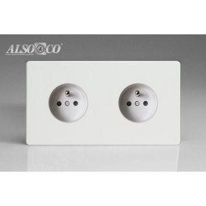 ALSO & CO - double socket - Steckdose