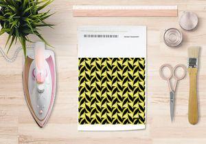la Magie dans l'Image - papier transfert abstrait fifties moutarde - Verlegung