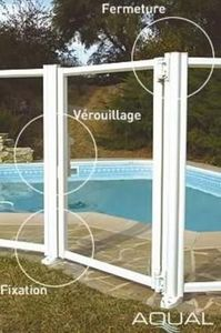 Lignes & Alu Aqual -  - Poolzaun