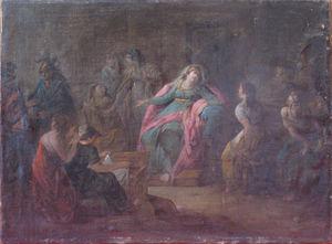 Galerie Emeric Hahn - scène de l'histoire antique - Ölgemelde Auf Leinwand Und Holztafel