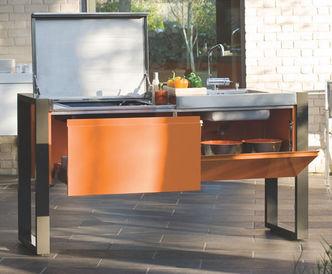 Sommerküche Module : Module 1800 sommerküche edelstahl outcook