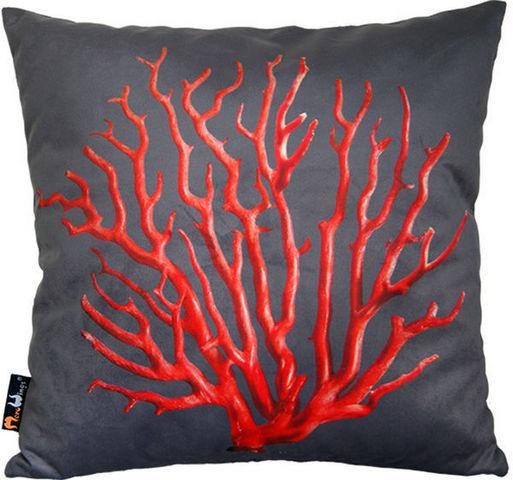 MEROWINGS - Kissen quadratisch-MEROWINGS-MeroWings red Coral