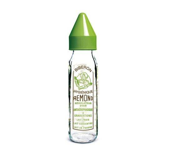 DBB REMOND - Fläschchen-DBB REMOND-Biberon Vintage vert avec ttine nouveau n (240 ml)