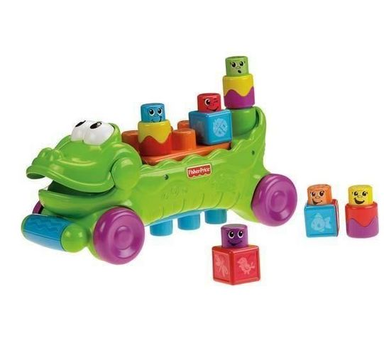 Fisher-Price - Aufbau Spiel-Fisher-Price-Croco Rigolo Blocs