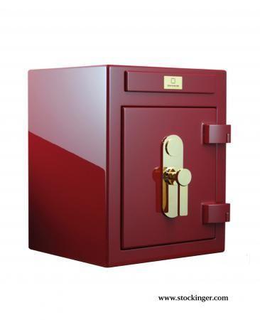 STOCKINGER BESPOKE SAFES - Tresor-STOCKINGER BESPOKE SAFES-Stockinger safe CUBE wine red